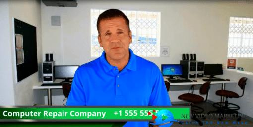 Computer Repair Actor Video