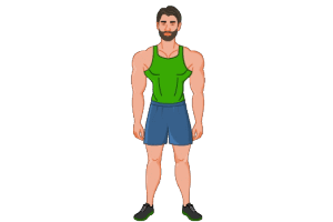 2d website avatar muscle