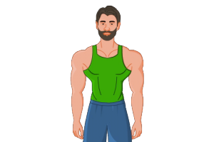 2D Website Avatar Muscle Close
