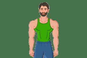2D Website Avatar Muscle Close
