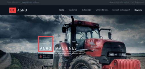 professional Agro website