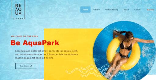 professional Aquapark website
