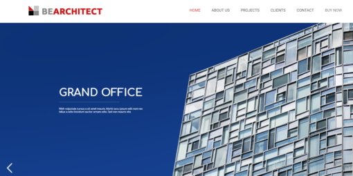 professional Architect website