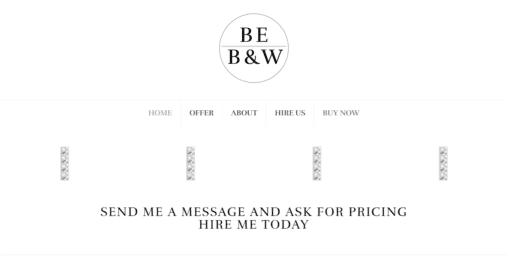 Professional B & W Website