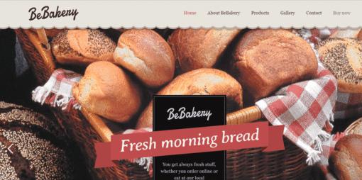 Professional Baker Website
