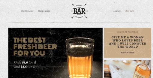 Professional Bar Website
