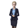 3D website avatar woman