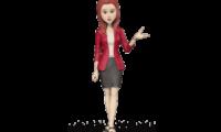 3d woman avatar monica