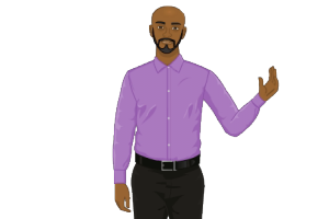 2D Avatar Black Man Close