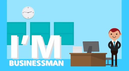 business man animated