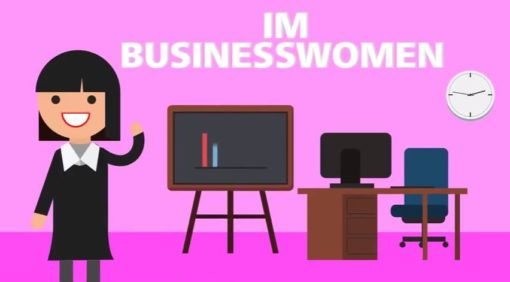 business woman animated