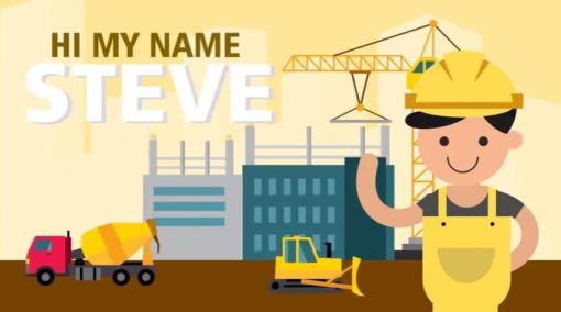 contractor man animated