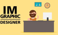 graphic designer man animated