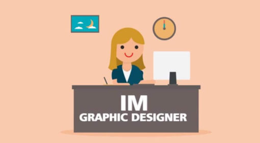 graphic designer woman animated