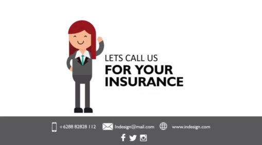 insurance woman animated