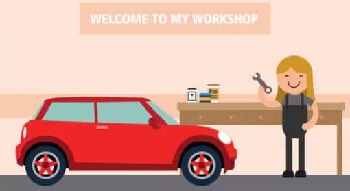 mechanic woman animated