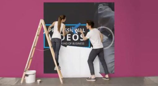 couple wall painting logo