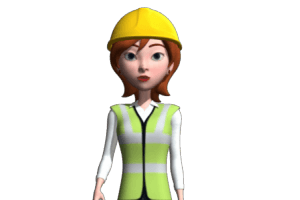 Contractor Woman 3D Avatar Close