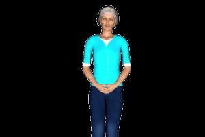 grandma 3d avatar close