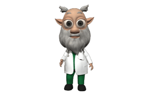 Scientist 3D Avatar